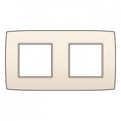 Niko Plaque de recouvrement (71mm) double horizontal, crème 100-76800