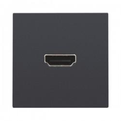 Niko Set de finition avec prise HDMI/vis, anthracite 122-69416