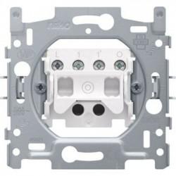 Niko Socle bouton poussoir 10A 250V AC, N.O./N.F., avec 4 bornes 170-03000