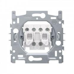 Niko Socle interrupteur va-et-vient double 10A 250V AC 170-02600