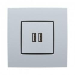 Niko Enjoliveur pour chargeur USB, sterling  121-68001