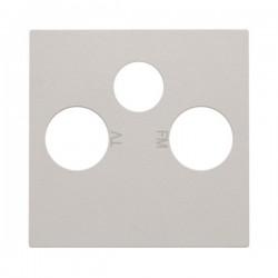 Niko Enjoliveur pour connection coax tv + satellite, gris clair 102-69551