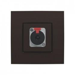 Niko Enjoliveur pour connection XLR/JACK, brun 124-69856