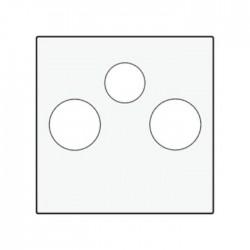 Niko Enjoliveur pour double connecteur haut-parleur, acier blanc 154-69701