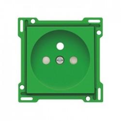 Niko Enjoliveur pour prise de courant avec broche de terre et sécurité, vert 197-66606