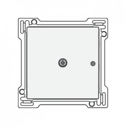 Niko Enjoliveur pour RF émetteur mural unipolaire 1 canal, blanc 101-77001