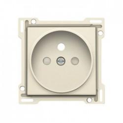 Niko Enjoliveur simple pour prise de courant 2P+A (broche) + sécurité, crème 100-66101