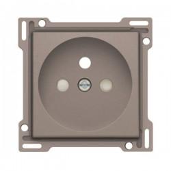 Niko Enjoliveur simple pour prise de courant 2P+A (broche) + sécurité, greige 104-66601