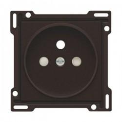 Niko Enjoliveur simple pour prise de courant avec 2P+A (broche) + sécurité, brun 124-66101