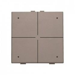 Niko Home Control commande d' éclairage quadruple avec led, greige  104-52004