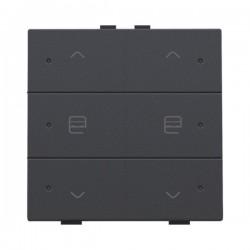 Niko Home Control commande double moteur avec touche sixtuple+led, anthracite 122-52036