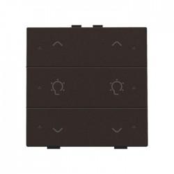 Niko Home Control commande double variateur avec touche sixtuple+led, brun  124-52046