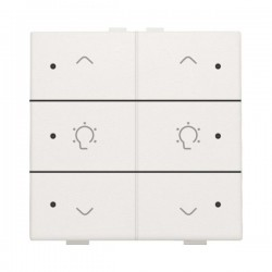 Niko Home Control commande double variateur avec touche sixtuple+led, Original blanc 101-52046