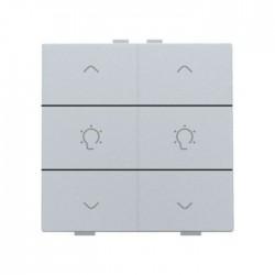 Niko Home Control commande double variateur avec touche sixtuple, sterling 121-51046