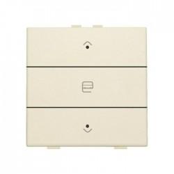 Niko Home Control commande simple moteur avec touche triple+led, Original crème 100-52033