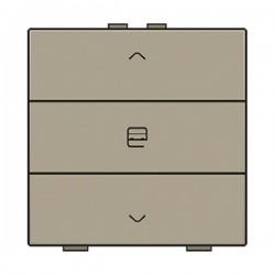 Niko Home Control commande simple moteur avec touche triple, bronze 123-51033