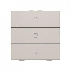 Niko Home Control commande simple moteur avec touche triple, gris clair 102-51033