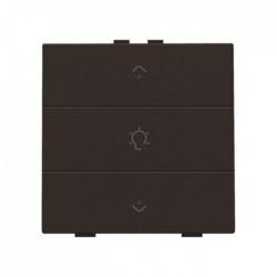 Niko Home Control commande simple variateur avec touche triple+led, brun  124-52043