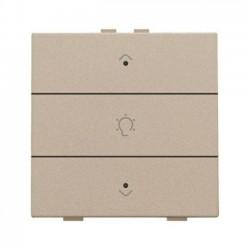 Niko Home Control commande simple variateur avec touche triple+led, champagne mat 157-52043