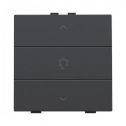 Niko Home Control commande simple variateur avec touche triple, anthracite 122-51043
