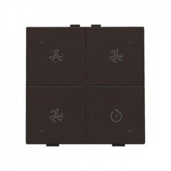 Niko Home Control commande ventilation avec led, brun  124-52054