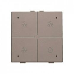 Niko Home Control commande ventilation avec led, greige 104-52054