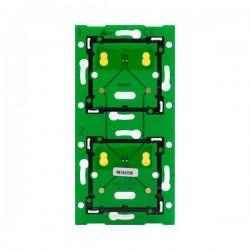 Niko Home Control platine murale double vertical: entraxe 71mm 550-14027