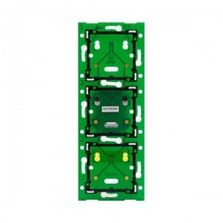 Niko Home Control platine murale triple vertical: entraxe 60mm 550-14031