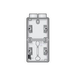 Niko Hydro boîte double 2 entrées - blanc (vertical) 701-84202