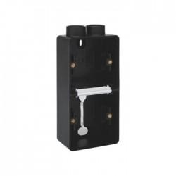 Niko Hydro boîte double 2 entrées - noir (vertical)  761-84202