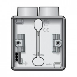 Niko Hydro boîte simple 2 entrées - blanc 701-84102