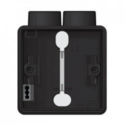 Niko Hydro boîte simple 2 entrées - noir  761-84102