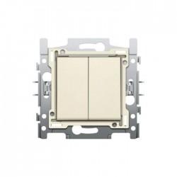 Niko Interrupteur double allumage 10A 250V AC, crème 100-61500