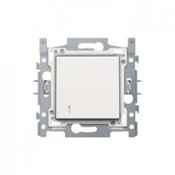 Niko Interrupteur pour carte d'hôtel 10A 250V AC, avec NO/NF contact, acier blanc 154-61900