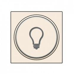 Niko Manette avec anneau translucide et symbole lumière pour poussoir 6A, crème 100-64008