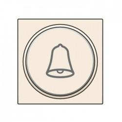 Niko Manette avec anneau translucide et symbole sonnerie pour poussoir 6A, crème  100-64007