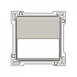 Niko Manette avec porte-étiquette pour bouton poussoir, gris clair 102-60905