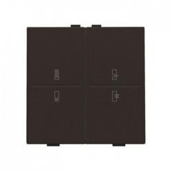 Niko Manette double avec mode régime pour poussoir câble-bus avec feedback, brun 124-00099
