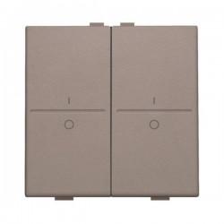 Niko Manette double I-0 pour poussoir câble-bus ou RF émetteur mural, greige 104-00008