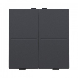 Niko Manette double pour poussoir câble-bus ou RF émetteur mural, anthracite  122-00007