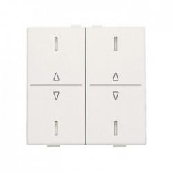 Niko Manette double up & down pour poussoir câble-bus avec feedback, blanc 101-00036