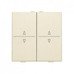 Niko Manette double up & down pour poussoir câble-bus ou RF émetteur mural, crème  100-00010