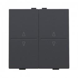 Niko Manette double up & down pour poussoir câble-bus ou RF émetteur, anthracite  122-00010