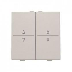 Niko Manette double up & down pour poussoir câble-bus ou RF émetteur, gris clair 102-00010