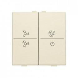 Niko Manette double ventilateur pour poussoir câble-bus ou RF émetteur mural, crème 100-00013