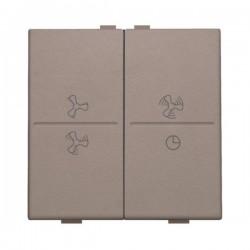 Niko Manette double ventilateur pour poussoir câble-bus ou RF émetteur mural, greige 104-00013