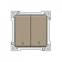 Niko Manette pour bouton poussoir pour volets verrouillage électrique, bronze  123-65914