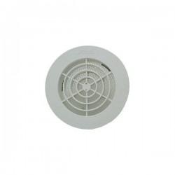Nicoll Grille ronde pour tube pvc 110mm blanche +moustiquaire GATM110