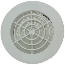 Nicoll Grille ronde pour tube pvc 160mm blanche +moustiquaire GATM160
