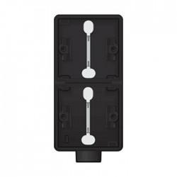 Niko  Hydro boîte double 1 entrée - noir (vertical) 761-84201